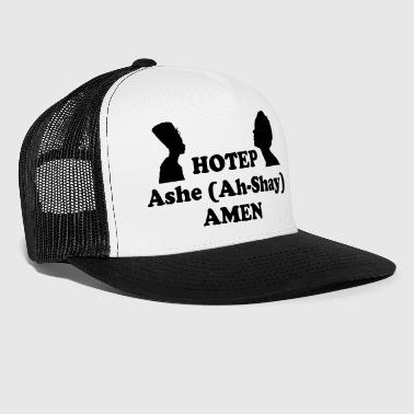 Ash Hotep Ashe Amen Button - Trucker Cap