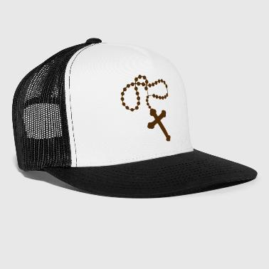 rosary black - Trucker Cap