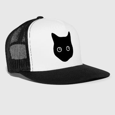 Black Cat cat, black cat, cat face - Trucker Cap