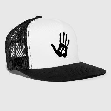 Hand and cat paw, 2 colors - Trucker Cap