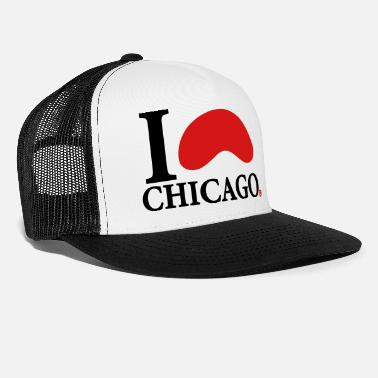 I Love I Love Chicago - Trucker Cap