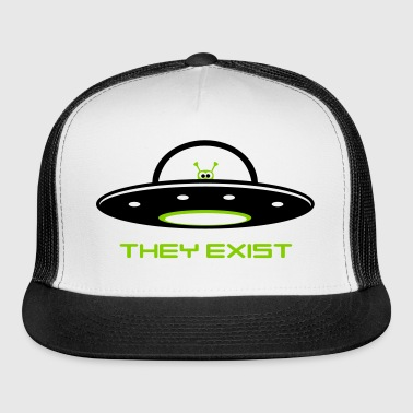 UFO with Alien - They exist - Trucker Cap