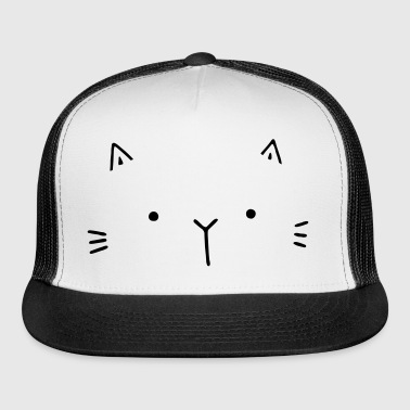 cat face gift idea for cat friends - Trucker Cap