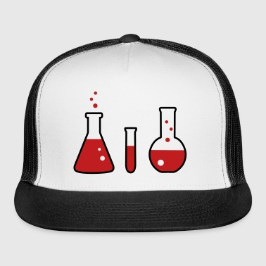 Lab flasks, chemistry, science (2 colors) - Trucker Cap