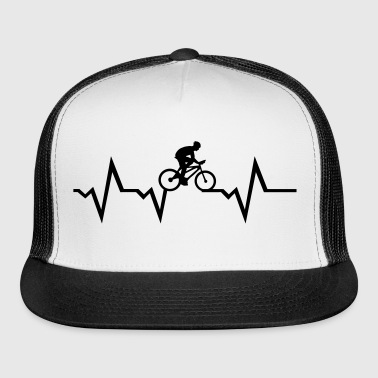 Cyclist & Heartbeat, cycling - Trucker Cap