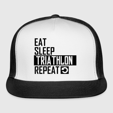 eat sleep triathlon - Trucker Cap