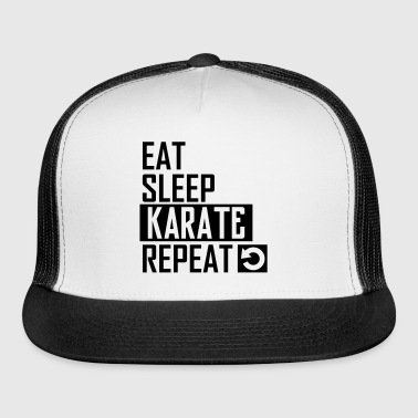eat sleep karate - Trucker Cap