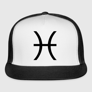 Pisces zodiac sign and horoscope symbol - Trucker Cap