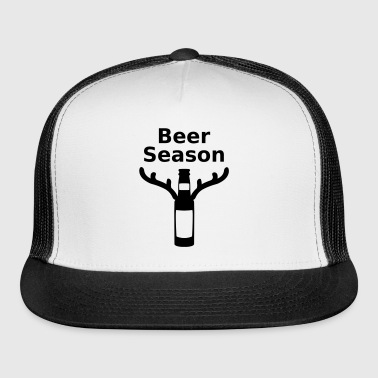 Beer season deer hunting hunter joke - Trucker Cap