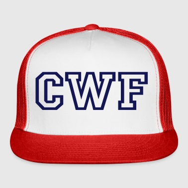 CWF Men's Baseball Tee - Black/White - Trucker Cap