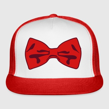 2 Color Bow Tie - Trucker Cap