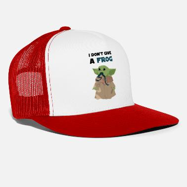 Funny sayings Baby Yoda I don't give a frog Quote - Trucker Cap
