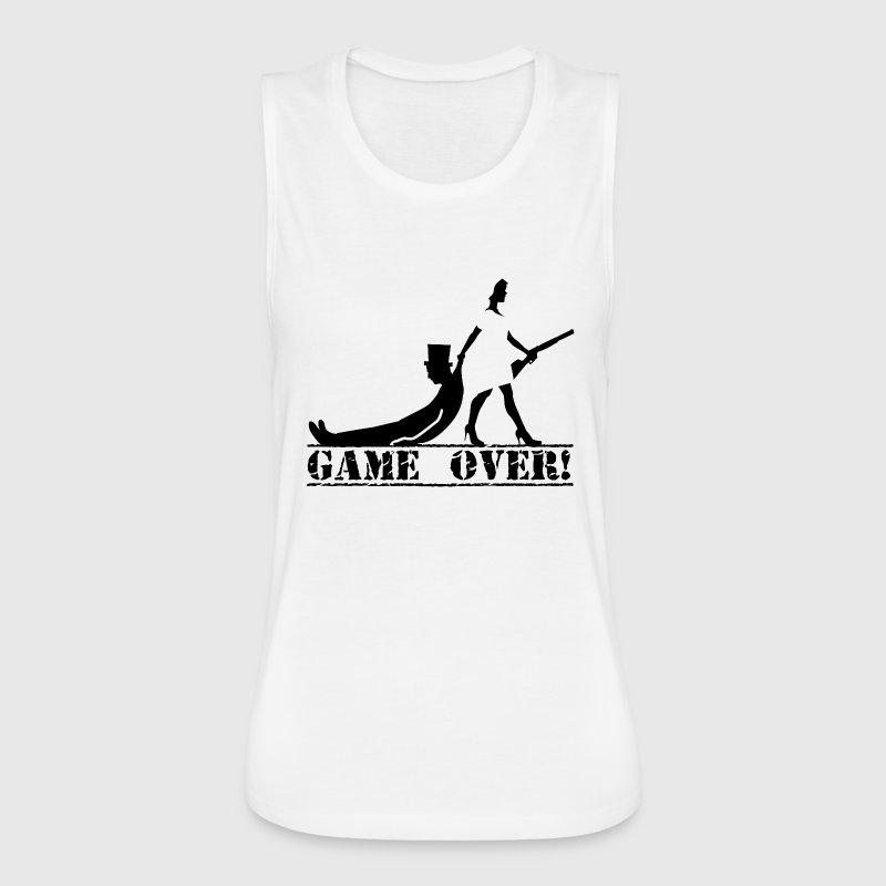 game over bride and groom - Women's Flowy Muscle Tank by Bella