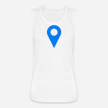 Location Icon Blue Women's T-Shirt | Spreadshirt