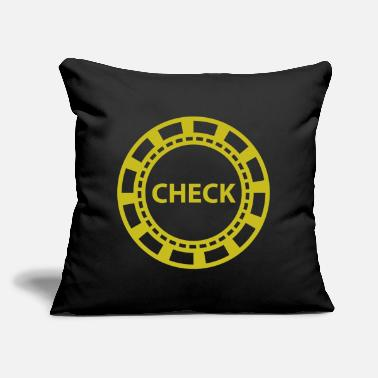 "Holdem Poker Chip, Holdem Check - Throw Pillow Cover 18"" x 18"""