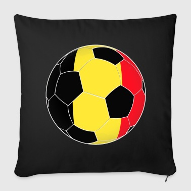 Belgium football soccer flag gift idea - Throw Pillow Cover