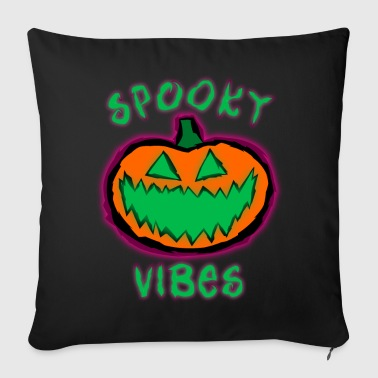 Spook Vibes Pumpkin - Throw Pillow Cover