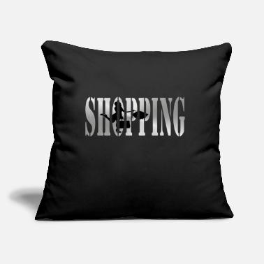 Shops Shopping - Throw Pillow Cover