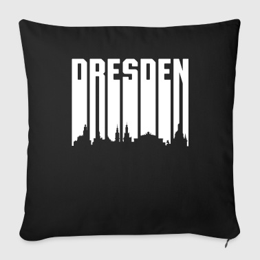 Retro Font Dresden - White Font - Throw Pillow Cover