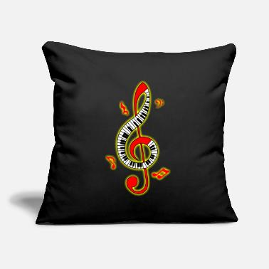 "Clef Clef - Throw Pillow Cover 18"" x 18"""