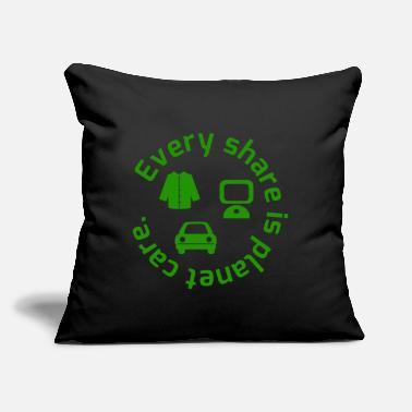 "Care Planet Care - Throw Pillow Cover 18"" x 18"""