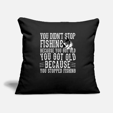 "Rod Funny Fishing Angler Gift - Throw Pillow Cover 18"" x 18"""