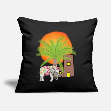 "Shiva Elephant India Hinduism Duddhism - Throw Pillow Cover 18"" x 18"""