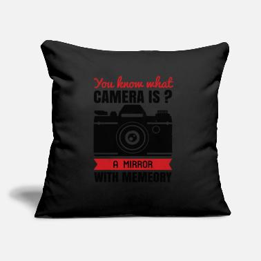 "Cameraman camera lens funny photographer photographing - Throw Pillow Cover 18"" x 18"""