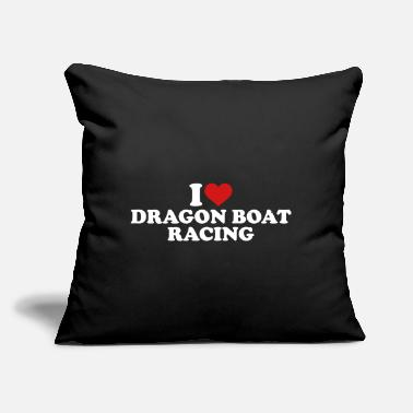 "Dragon Boat Dragon Boat - Throw Pillow Cover 18"" x 18"""