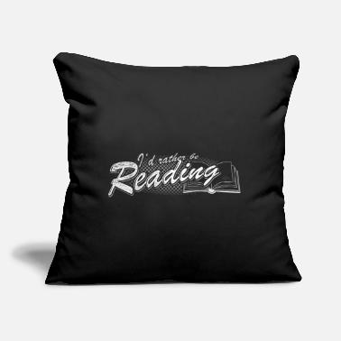 "Reading Reading - Throw Pillow Cover 18"" x 18"""