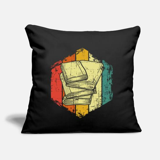 "Goodies Pillow Cases - Book - Throw Pillow Cover 18"" x 18"" black"
