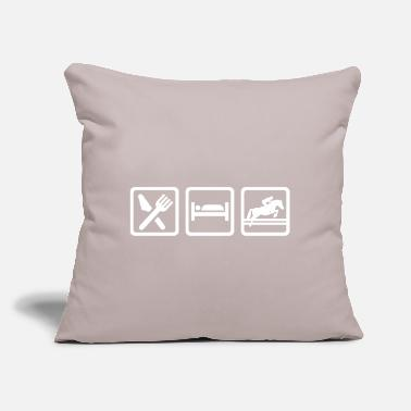 "Show Jumping Show jumping - Throw Pillow Cover 18"" x 18"""