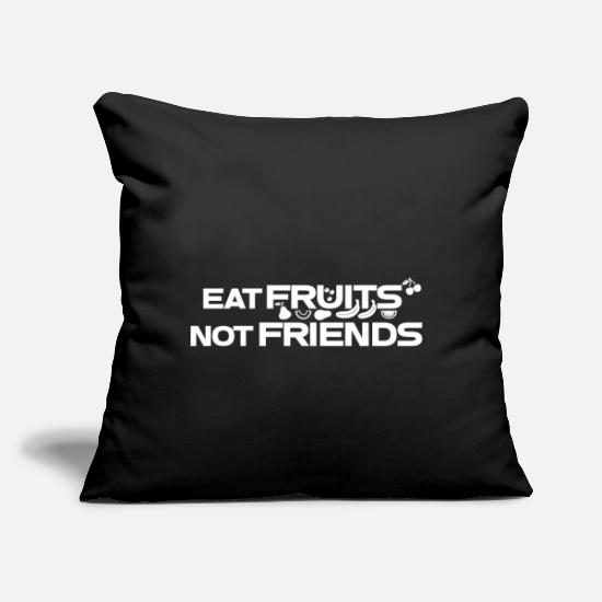 "Banana Pillow Cases - Fruit - Throw Pillow Cover 18"" x 18"" black"