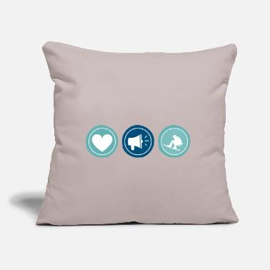 "Comics Cute Sweet Funny Wakeboarding Enthusiast Jokes - Throw Pillow Cover 18"" x 18"""
