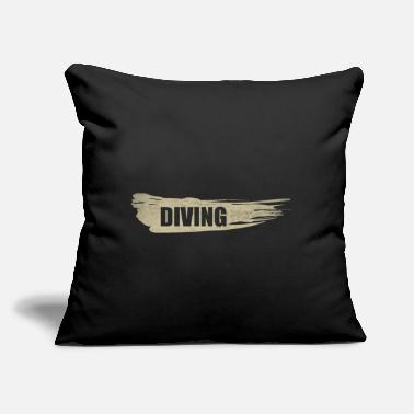 "Dive DIVING dive - Throw Pillow Cover 18"" x 18"""