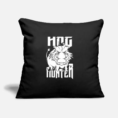 "Hog Hog Hunter - Throw Pillow Cover 18"" x 18"""