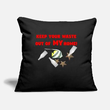 "Protection Of The Environment Protection environment, no plastic - Throw Pillow Cover 18"" x 18"""