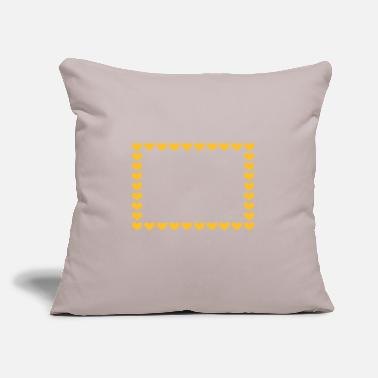 "Symbol Rectangle heart frame decoration symbol - Throw Pillow Cover 18"" x 18"""