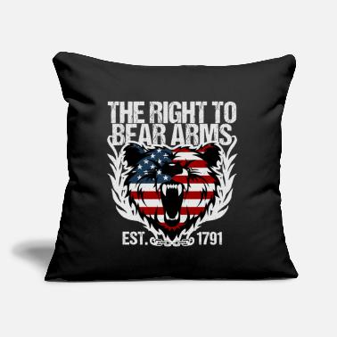 "Gun The Right To Bear Arms Gun Owner - Throw Pillow Cover 18"" x 18"""