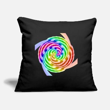 "Patter Spiral color patter - Throw Pillow Cover 18"" x 18"""