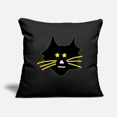 "Asterisk Cute cat with asterisks - Throw Pillow Cover 18"" x 18"""
