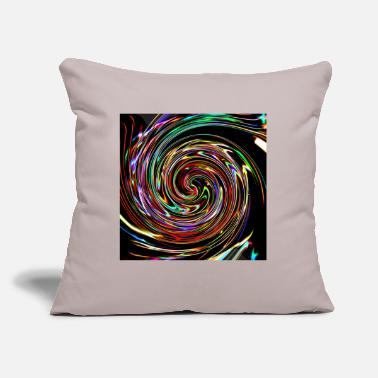 "Neon Neon spirals, Neon Spiralen - Throw Pillow Cover 18"" x 18"""
