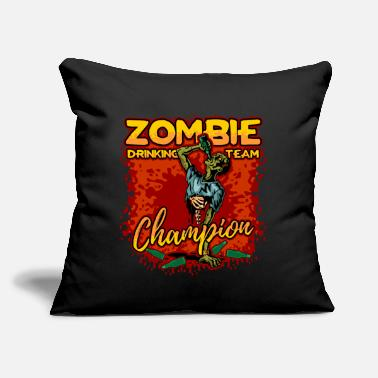 "Zombie Halloween Zombie Drinking Team Champion - Throw Pillow Cover 18"" x 18"""