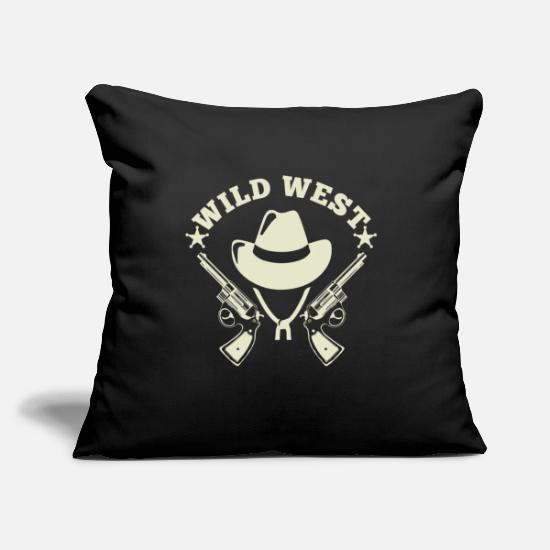 "Goodies Pillow Cases - Wild West - Throw Pillow Cover 18"" x 18"" black"