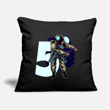 "5th Birthday Boy Flossing Astronaut Five Years - Throw Pillow Cover 18"" x 18"""