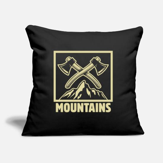 "Adventure Pillow Cases - Mountains - Throw Pillow Cover 18"" x 18"" black"