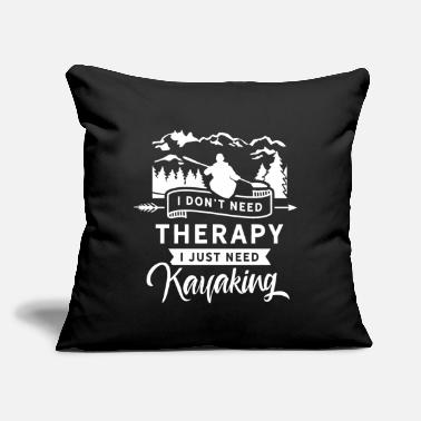 "Kayak Kayak Kayaks Kayaking Kayakers Kayaker - Throw Pillow Cover 18"" x 18"""