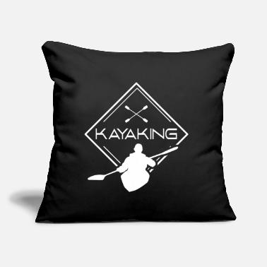"Kayak Kayaking Kayaker Kayak Kayakers Kayaks - Throw Pillow Cover 18"" x 18"""