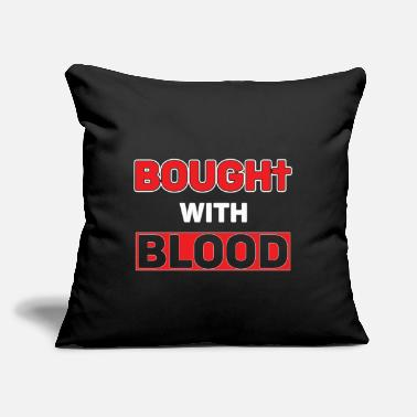 "Blood Bought - Throw Pillow Cover 18"" x 18"""
