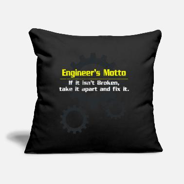 "Motto Engineer motto - Throw Pillow Cover 18"" x 18"""
